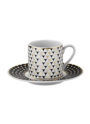 Kütahya Porselen Rüya 775112 Desen Kahve Fincan Takımı Renkli